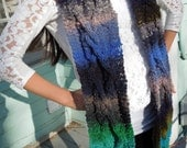 Scarf is Hand Knit in a Gorgeous Chunky Cable Pattern in NORO Wool