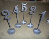 """11.25"""" Table Numbers with 4"""" numbers  with base Set 1-15 Painted"""