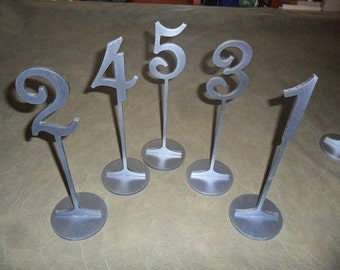 "11.25"" Table Numbers with 4"" numbers  with base Set 1-15 Painted"