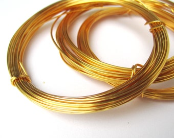 Gold plated wire - jewellery, floristry, cakes - 0.4mm, 0.6mm, 0.8mm, 1mm, 1.2mm