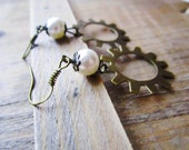 Rustic Gear Earrings - Steampunk Inspired