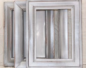Silver Frame Set of Three 5x7 Metallic Silver Vintage Hand Painted Distressed Frames