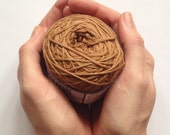 Cotton yarn, hand dyed yarn, antique brown, medium brown, double knit DK *SALE 25% OFF*