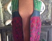 Vintage Guatemalan Peruvian Embroidered Hippie Vest XS S M