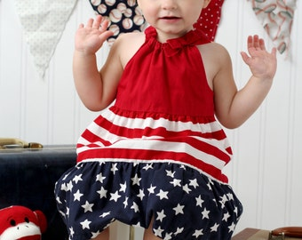 4th of July headband - July 4th headband - Patriotic headband - red white and blue headband - stars headband