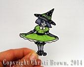 Witch Sticker waterproof Vinyl for Car Window bumper crafts scrapbook Halloween sticker