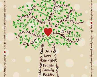 Family Tree Digital File - Khaki