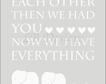 Gender Neutral Nursery Decor, Gray and White Nursery, Twins Nursery Decor, Elephant Nursery Print