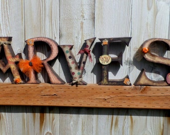 harvest wooden letters