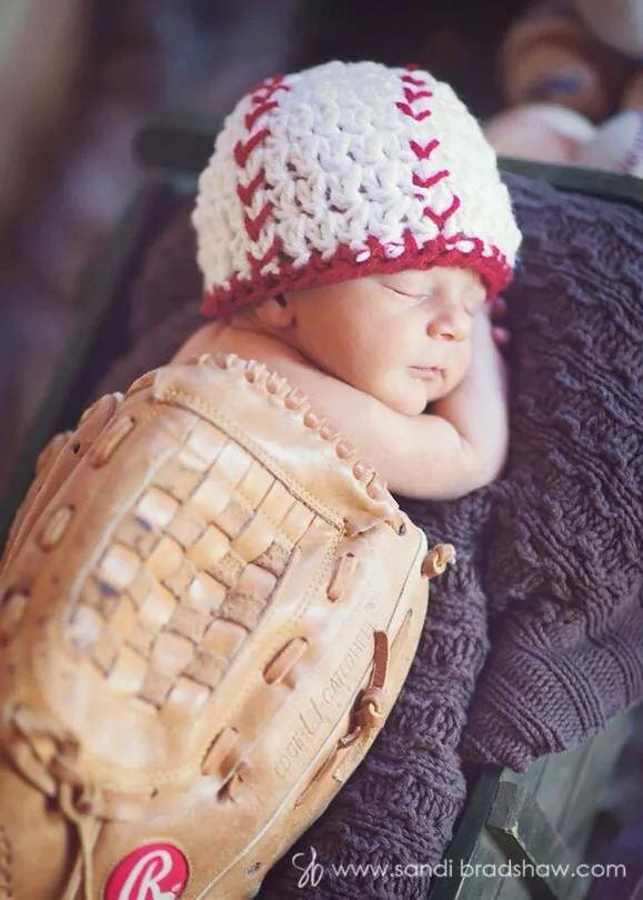 Newborn Baseball Beanie Photo Prop Baby Baseball Hat Sports