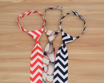 Choose One Patriotic Necktie, Baby Boy 4th of July Outfit, Boy Clothes for Memorial Day - Baseball, Chevron, Red, White, Blue