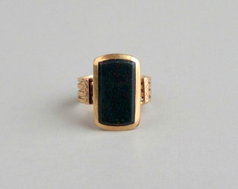 Antique Victorian Bloodstone Ring. Gold.