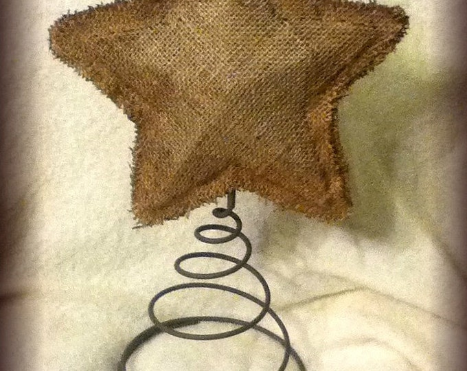 Featured listing image: Handmade Burlap tree topper star