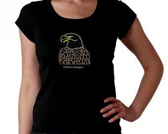 Bald Eagle RHINESTONE t-shirt tank top sweatshirt S M L XL 2XL - Bird of Prey usa Bling
