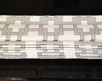 Custom Roman Shade Window Treatment   Kravet Citysquare Fabric   Designer Quality