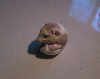Hamster, sleeping baby...Notsuke...copy of an antique...so not-netsuke  Anna  f