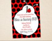 Ladybug Party Invitation - Ladybug Birthday Invite - Printable Invitation - Digital Ladybug Invitation - Ladybug Party Printables