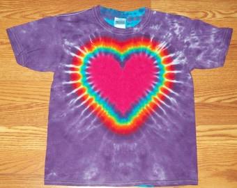S M L Xl 2x 3x 4x 5x 6x Heart Tie Dye- Kids Adult Plus Size tie dye heart Shirt