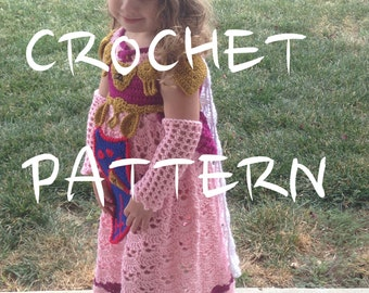 CROCHET PATTERN, This is NOT the Dress! - Princess Zelda Costume Tutorial pdf Instructions Legend Triforce Comic Con Fantasy Geekery Cosplay