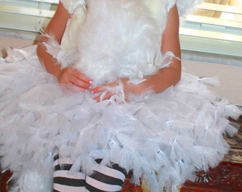 Swan Princess White and Sliver Petti Tutu Dress
