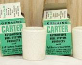 Carter Automotive Ceramic Fuel Filter Elements - F-30-60 - Vintage 1950s/60s
