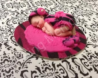 Pink and black zebra baby dress