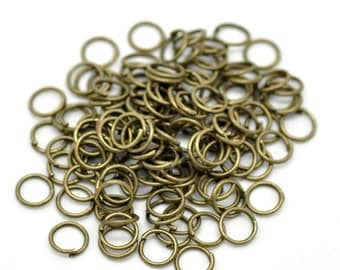 7mm Jump Rings Antique Bronze  - 22 Gauge - 100pcs - Ships IMMEDIATELY from California - F216