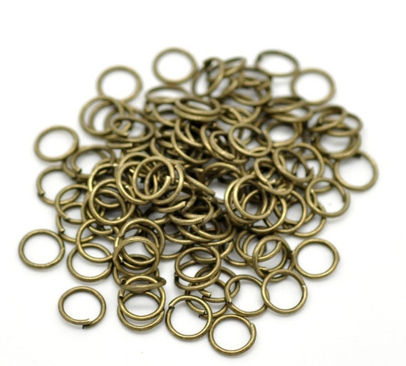 7mm jump rings antique bronze 22 100pcs ships