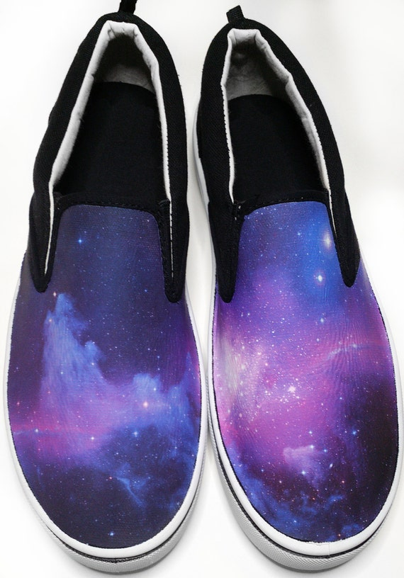 custom vans brand galaxy canvas shoes