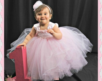 TUTU DRESS, Flowergirl Dress,  Baby Lace Dress , Toddler Tutu Dress,  Special Occasion, Pageant Dress, Birthday Dress, Party Dress