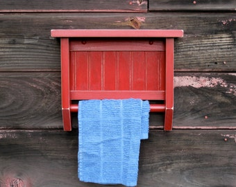 Country Cottage Towel Rack, red