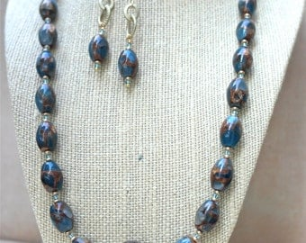 Necklace & Earrings Set - Late Summer Night