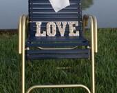 "Signage, wedding decor seashell  ""Love"" Letters beach wedding"