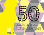 "50 qty. Custom 2.25"" Bottle Openers/Keychains"