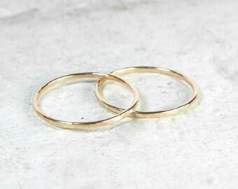 Gold Skinny Stacking Ring