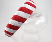 Red and White Headband - Red Headband - White Headband - Striped Headband - Headband - Ribbon Woven Headband - Braided Headband