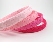 Pink Headband SET- Hot Pink Headband - Light Pink Headband - Headband Set - Ribbon Woven Headband - Child Toddler Teenager Adult Headband