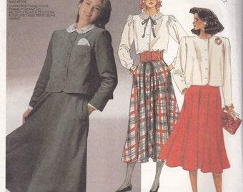 Blouse, Skirt & Jacket Pattern McCalls 3231 Sizes 8 10 12 Uncut