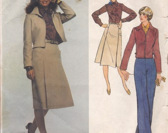 Anne Klein Jacket, Skirt, Blouse & Pants Pattern Vogue 1616 Size 14