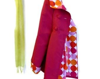 Spring Swing Coat in Lightweight Water Resistant Supplex Optional Hood Jacket for Travel Rain or Shine