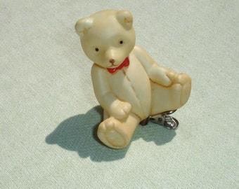 Porcelain - Teddy Bear Clip on Ornament