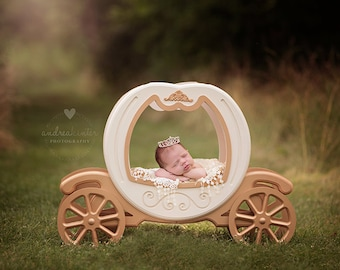 Princess Carriage Prop, Carriage Prop, Cinderella Carriage Prop, Newborn Photo Prop, Newborn Photography Prop