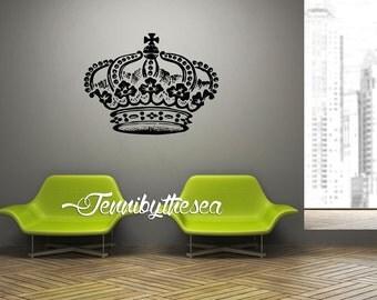 Wall Decal Vinyl Sticker Decals Giant Crown art