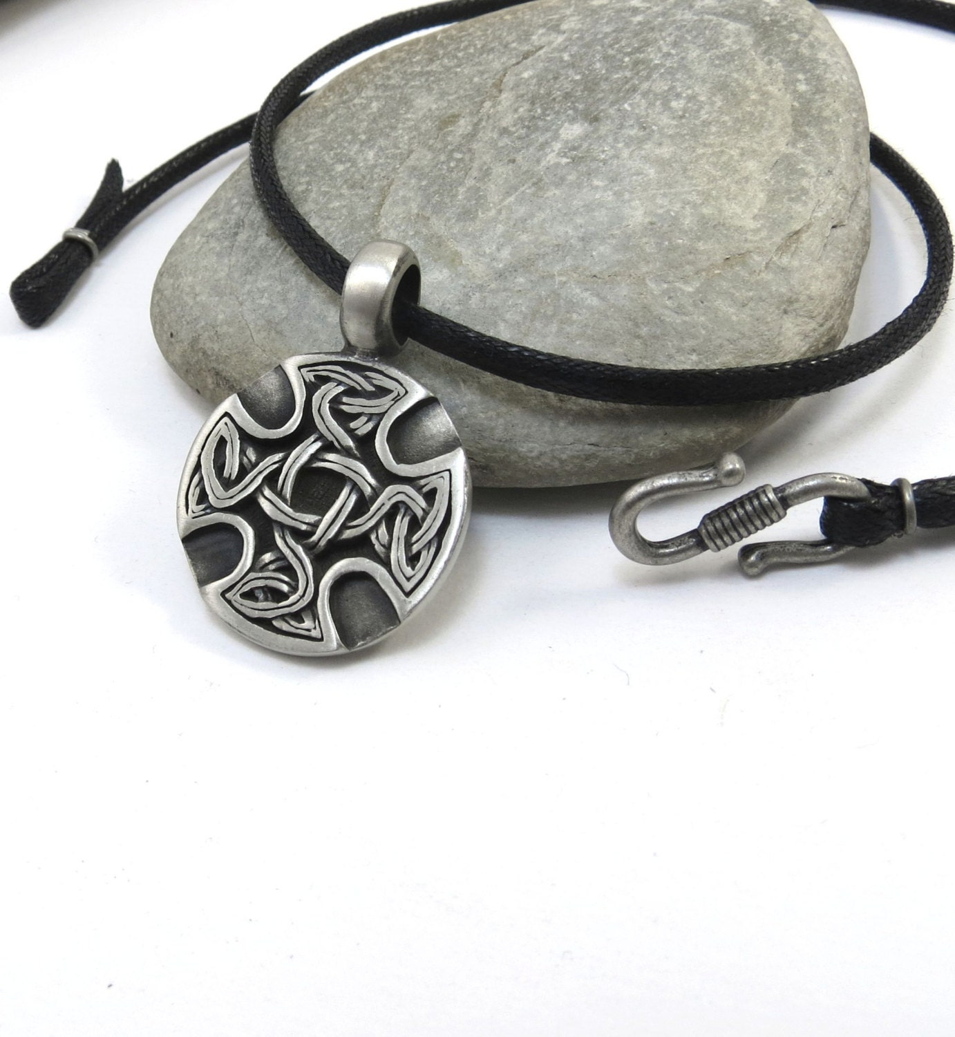 celtic cross necklace mens jewelry celtic knot necklace in