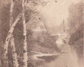 "Ca. 1912 ""Pastoral Scene"" Skinny Topographical Picture Postcard - 1423"