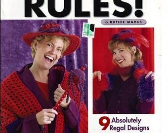 Red & Purple Rules  / Crochet Pattern Book  / American school of Needlework 1362