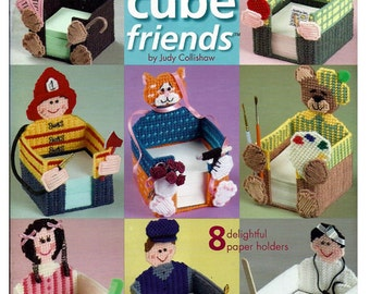 Memo Cube Friends Plastic Canvas Pattern Book  The Needlecraft shop 844506