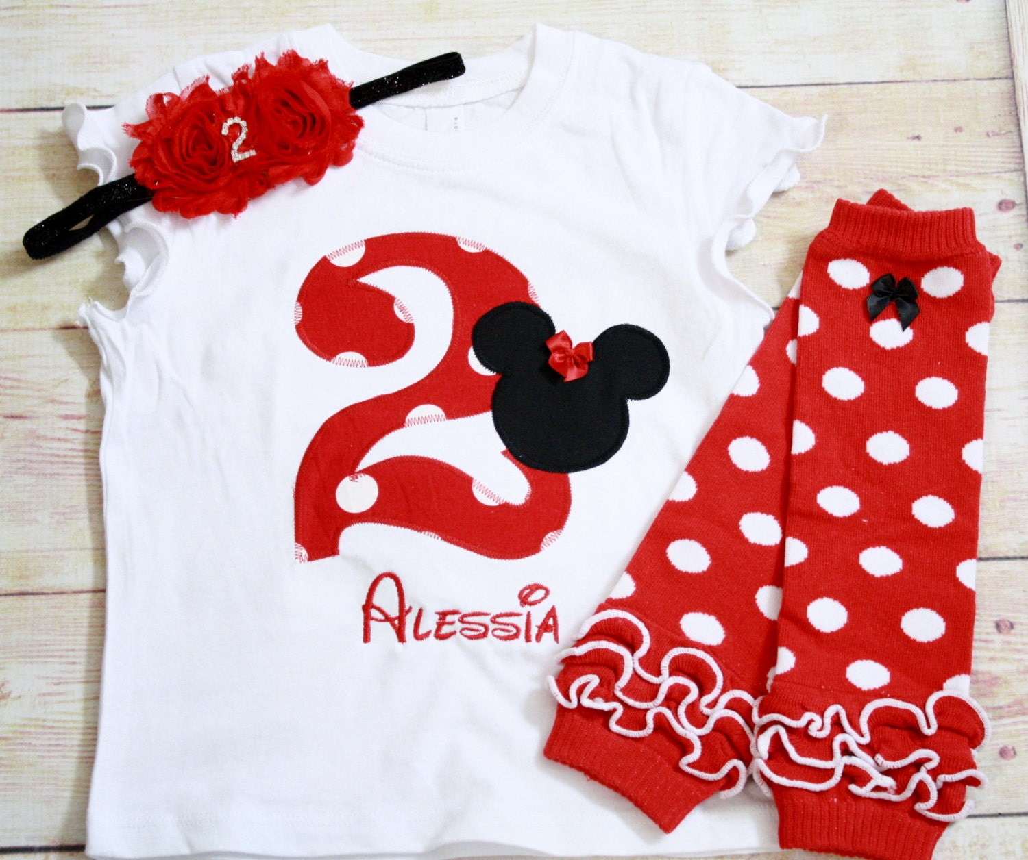 Minnie Mouse 2nd Birthday / Disney Birthday Girl Outfit / Red