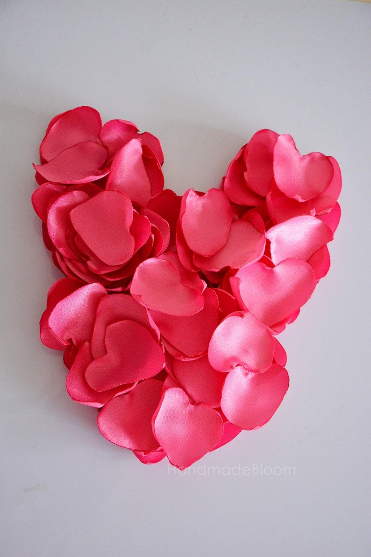 Pink Rose Satin Petals Silk Rose Petals Decor Wedding Confetti
