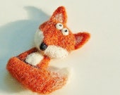 Red Fox Brooch by Marina Lubomirsky MADE TO ORDER